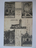 Rara! Carte postala colaj/mozaic Alba-Iulia circulata 1907, Alba Iulia, Printata