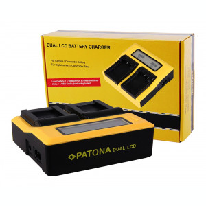 PATONA   Incarcator DUAL LCD pt Olympus PS-BLS1 BLS1 BLS5 PS-BLS 5 Fuji NP-140