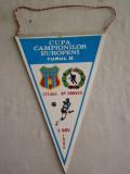 MCFA - FANION - STEAUA BUCURESTI - BP HONVED - CC EUROPENI - 6 NOIEMBRIE 1985