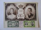 Maxima foto 150 x 116 mm casatoria printului Rainier cu Grace Kelly 1956, Necirculata, Fotografie, Europa