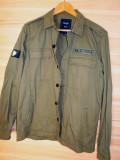 Jacheta Pull & Bear Military , cu embleme , noua, M, Bumbac, Khaki