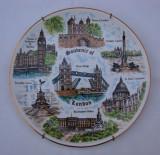 Frumoasa farfurie din portelan englezesc - suvenir din Londra, Farfurii