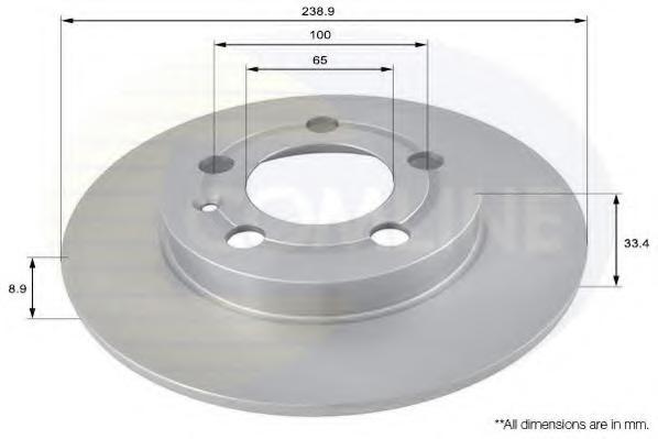 Disc frana VW GOLF Mk IV 1.9 TDI 4motion - COMLINE ADC1443