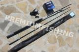 Lanseta Cormoran Seacor Blue Power Pilk 2.4 A : 100-250 + Mulineta Okuma Longbow