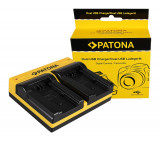 PATONA | Incarcator Dual USB cu placute pt Panasonic DMW-BLC12 DMW BLC12