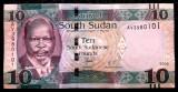 South Sudan de Sud 10 Pounds 2016 UNC necirculata  **