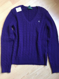 RALPH LAUREN PULOVER DAMA, Mov, Bumbac, Polo By Ralph Lauren