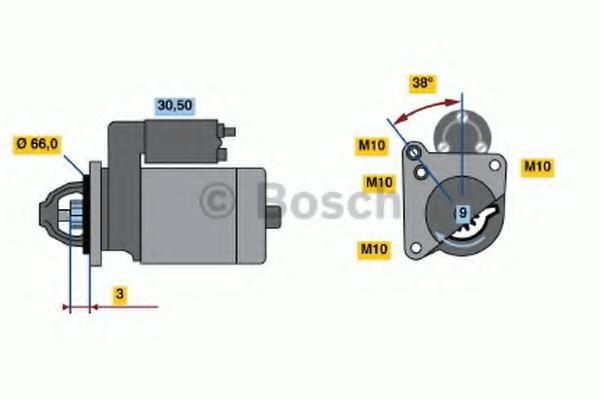 starter RENAULT MEGANE I Cabriolet 2.0 16V - BOSCH 0 001 107 047