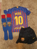 Echipament Barcelona+jambiere,copii 4-16 ani,model NOU 2018-2019 ,10 MESSI, YL, YM, YS, YXL, YXXL, Set echipament fotbal