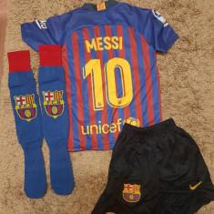 Echipament Barcelona+jambiere,copii 4-16 ani,model NOU 2018-2019 ,10 MESSI, YL, YS, YXL, YXS, YXXL, Tricou + Pantalon