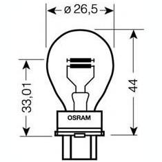 Bec, semnalizator JEEP WAGONEER 2.5 i 4x4 - OSRAM 3157