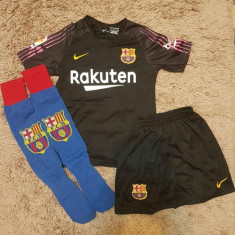 Echipament Barcelona+jambiere,copii 4-16 ani,model NOU 2018-2019 ,1 TER STEGEN, YXS, Tricou + Pantalon
