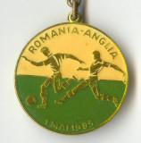 FOTBAL - ROMANIA  ANGLIA 1985  - BRELOC  de COLECTIE