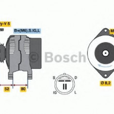 Generator / Alternator SUBARU LIBERTY I 1800 4WD - BOSCH 0 986 038 481