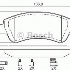Placute frana PEUGEOT 206 hatchback 1.6 Flex - BOSCH 0 986 494 623