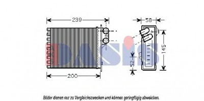 Schimbator caldura, incalzire habitaclu DACIA LOGAN 1.4 MPI LPG - AKS DASIS 189002N foto