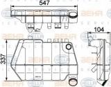 Vas de expansiune, racire DAF XF 95 FA 95.380 - BEHR HELLA SERVICE 8MA 376 731-631