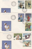 ROMANIA 1989 LP 1216  OAMENI IN SLUJBA VIETII   SERIE  FDC