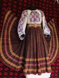 Costum popular vechi de colectie cretana dolj si ie cusuta, 40/42
