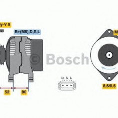 Generator / Alternator SUBARU FORESTER 2.0 - BOSCH 0 986 045 731