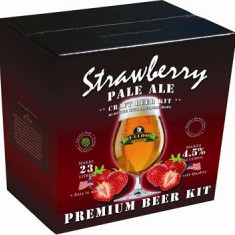 Bulldog Strawberry Pale Ale - kit pentru bere de casa premium 23 de litri