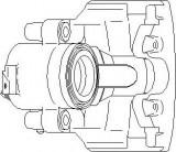 Etrier frana AUDI A4 limuzina 1.6 - TOPRAN 110 289