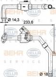 Supapa control, agent frigorific - HELLA 9XL 351 328-171