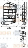 Vas de expansiune, racire DAF 95 XF FA 95 XF 380 - BEHR HELLA SERVICE 8MA 376 705-071