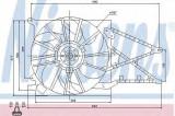 Ventilator, radiator OPEL ASTRA G hatchback 1.7 TD - NISSENS 85175