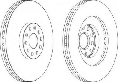 Disc frana VW GOLF VI 2.0 R 4motion - FERODO DDF1504 foto