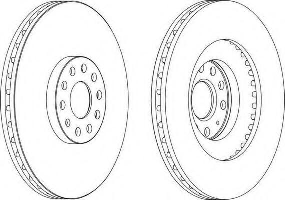 Disc frana VW GOLF VI 2.0 R 4motion - FERODO DDF1504