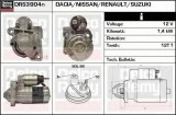 starter RENAULT CLIO Mk II 1.5 dCi - DELCO REMY DRS3904N
