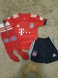 Echipament Bayern Munchen+jambiere,copii 4-16 ani,model NOU 2018-2019 ,25 Muller, YL, YXS, Tricou + Pantalon