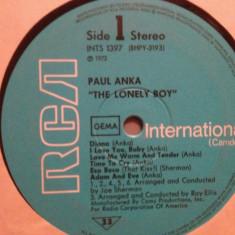 PAUL ANKA – THE LONELY BOY (1972/RCA/RFG) - VINIL/stare Foarte Buna, rca records