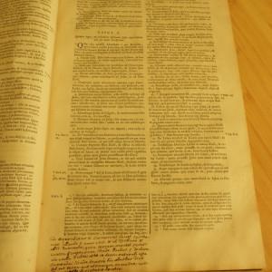 BIBLIA - 1706 - 1705 - 2 VOL. - COLIGATE - STARE extra  -folio- latina