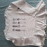 Tricou pentru fetite Mango, 7-8 ani, Gri