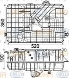 Vas de expansiune, racire MERCEDES-BENZ ACTROS MP4 1842 LS - HELLA 8MA 376 923-771