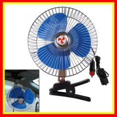 Ventilator Auto 12V, Suport Metalic,Oscilant,Bord Auto,Diametru 14cm