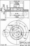 Disc frana MERCEDES-BENZ A-CLASS A 200 CDI - BREMBO 09.8680.11
