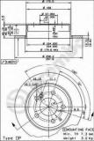 Disc frana MERCEDES-BENZ 190 limuzina E 1.8 - BREMBO 08.4738.14
