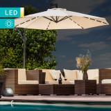 Umbrela terasa cu brat retractabil si iluminat LED Swing & Home ID936