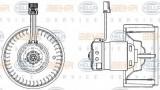 Ventilator, habitaclu VOLVO S80 I limuzina 2.9 - BEHR HELLA SERVICE 8EW 009 157-171