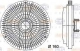 Cupla, ventilator radiator MERCEDES-BENZ C-CLASS limuzina C 180 - BEHR HELLA SERVICE 8MV 376 733-011