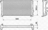 Radiator, racire motor LANCIA YPSILON 1.3 JTD - MAGNETI MARELLI 350213012000