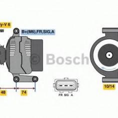Generator / Alternator FORD FOCUS II 1.6 Flex - BOSCH 0 986 049 980