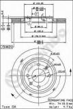 Disc frana CITROËN BX 19 GTi 16V - BREMBO 09.4987.24