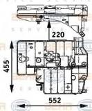 Vas de expansiune, racire MERCEDES-BENZ MK 1222 - HELLA 8MA 376 705-191