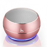 Mini boxa portabila cu Bluetooth Wireless Speaker Rose Gold