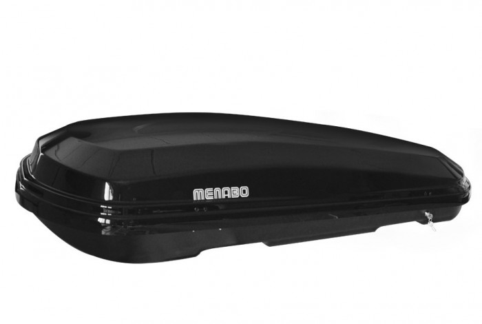 Cutie portbagaj Menabo Diamond 450 Black, 163x90.7x36cm