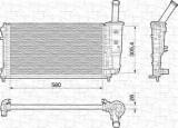 Radiator, racire motor FIAT PUNTO 1.4 - MAGNETI MARELLI 350213197000